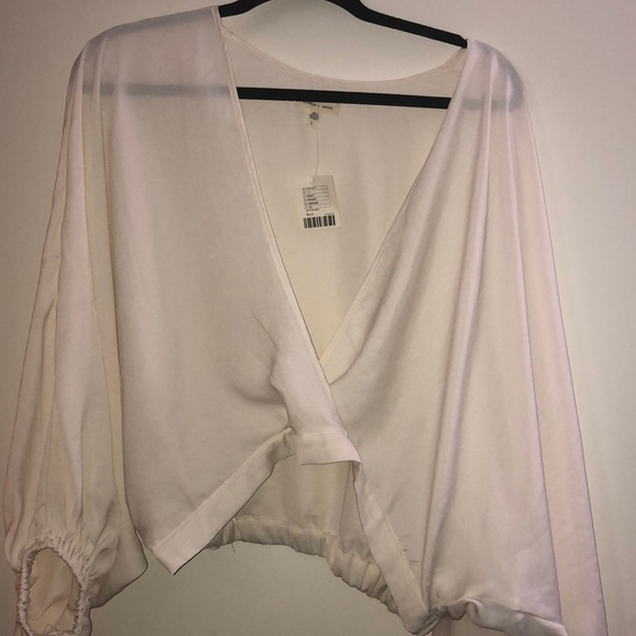 Urban Outfitters Tops - Urban Surplice Cropped Shirt